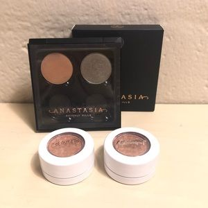 Anastasia Empty Palette with four Colorpop Shadows